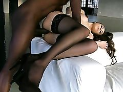 Dark-haired Is Desperate For Man Man-cream
