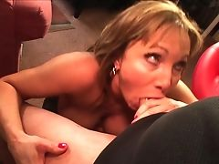 Blonde With Massive Tits Gets Her Pretty Face Spunk Glazed