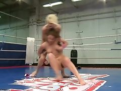 Lez Wrestlers With Smooth-shaven Vulvas Angel Rivas And Niky Gold