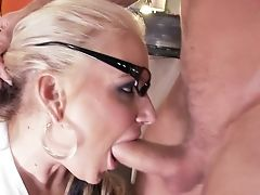 Cougar Phoenix Marie With Gigantic Knockers And Horny Dude Have A Lot Of Joy In This Oral Activity