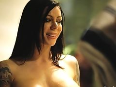 Wild And Revved On Lezzie Tana Lea Wanna Some Voluptuous Vag Gobbling