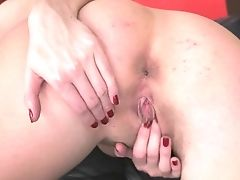 Blonde Lexi Lowe With Gigantic Knockers Spends Time Masturbating Her Pubic Hair