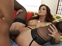 Bootyful Cougar Syren De Mer Goes Interracial And Takes Big Black Cock Deep In Ass-hole