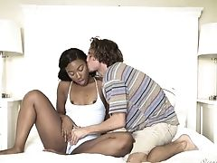 Black Gf Chanell Heart Is Fucked Hard By Hot Blooded Milky Dude