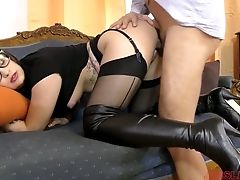 Intercourse-thirsty Student Chick Angelina Brill Is Having Dirty Bang-out With A Dean