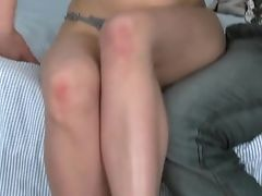 Skinny Dark Haired Jalace Gives Head In The Bedroom