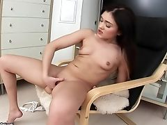 Thick Faux-cock In Seren's Teenager Assfuck Slot