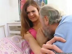 Youthful Chick Alyona Gets Her Taut Teenage Rectum Fucked By One Exotic Geezer