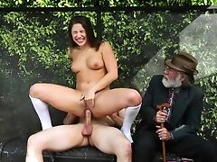 Public Bus Stop Lovemaking With Teenager Abella Danger