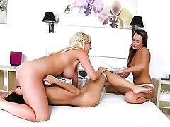Dark-haired Chachita Blue Angel And Frida Sante Spend Time Having Girl-on-girl Intercourse