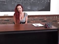 Wondrous Bright Ginger Hot Professor With Massive Boobies Gonna Go Solo