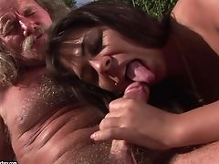 Nubile With Big Bum Inhales Like A Hookup Crazed Animal In Steamy Oral Activity