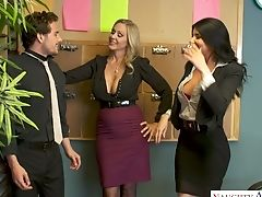 Amazing Office Super-bitch Julia Ann Has Memorable Ffm Threesome At Work