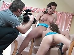 Dark Haired Silvia Saint And Eufrat Mai Have Fun With Each Other's Hooters Before It Comes To Labia Finger-tickling