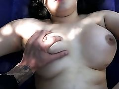 Senorita With Gigantic Melons And Bald Cunt And Her Hard Cocked Fuck Pal Are In The Mood For Oral Hook-up