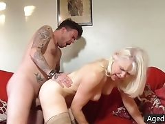 Old Sitter Fellates A Dick And Gets Her Worn Out Pout Cooch Slammed Hard