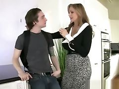 Stepmom Julia Ann Fucks Stepson In Donk!